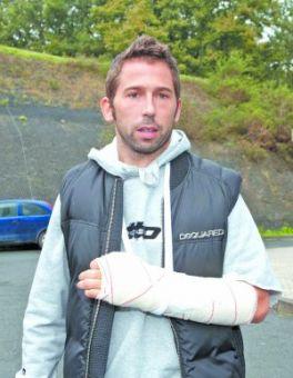 Tamudo inició la rehabilitación con dolor en el brazo lesionado